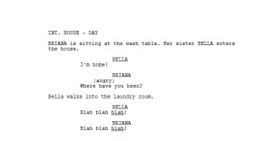 cut scene written with Final Draft