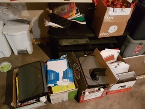 boxes of stuff