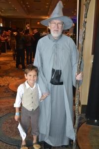 Bilbo and Gandalf on an adventure