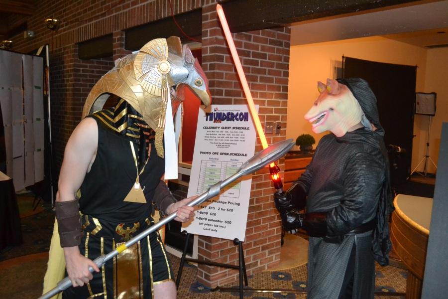 Darth Jar Jar and Anubis fighting