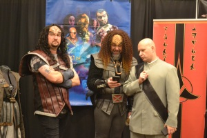 Klingons and Dr. Stevil sharing a moment