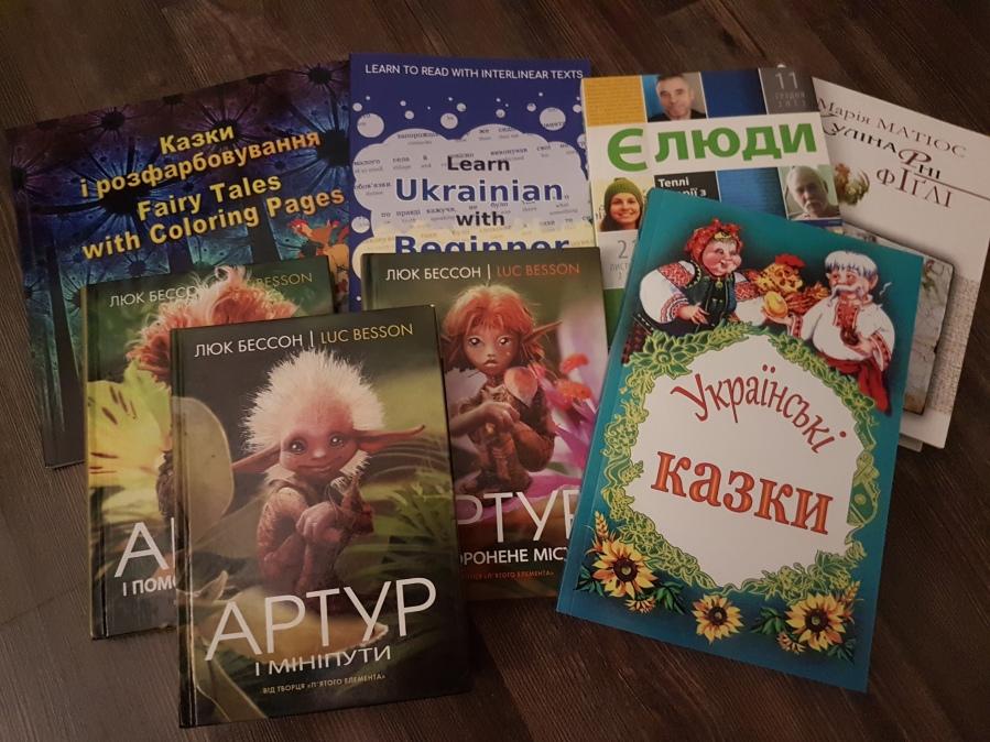 the 8 Ukrainian books I ordered
